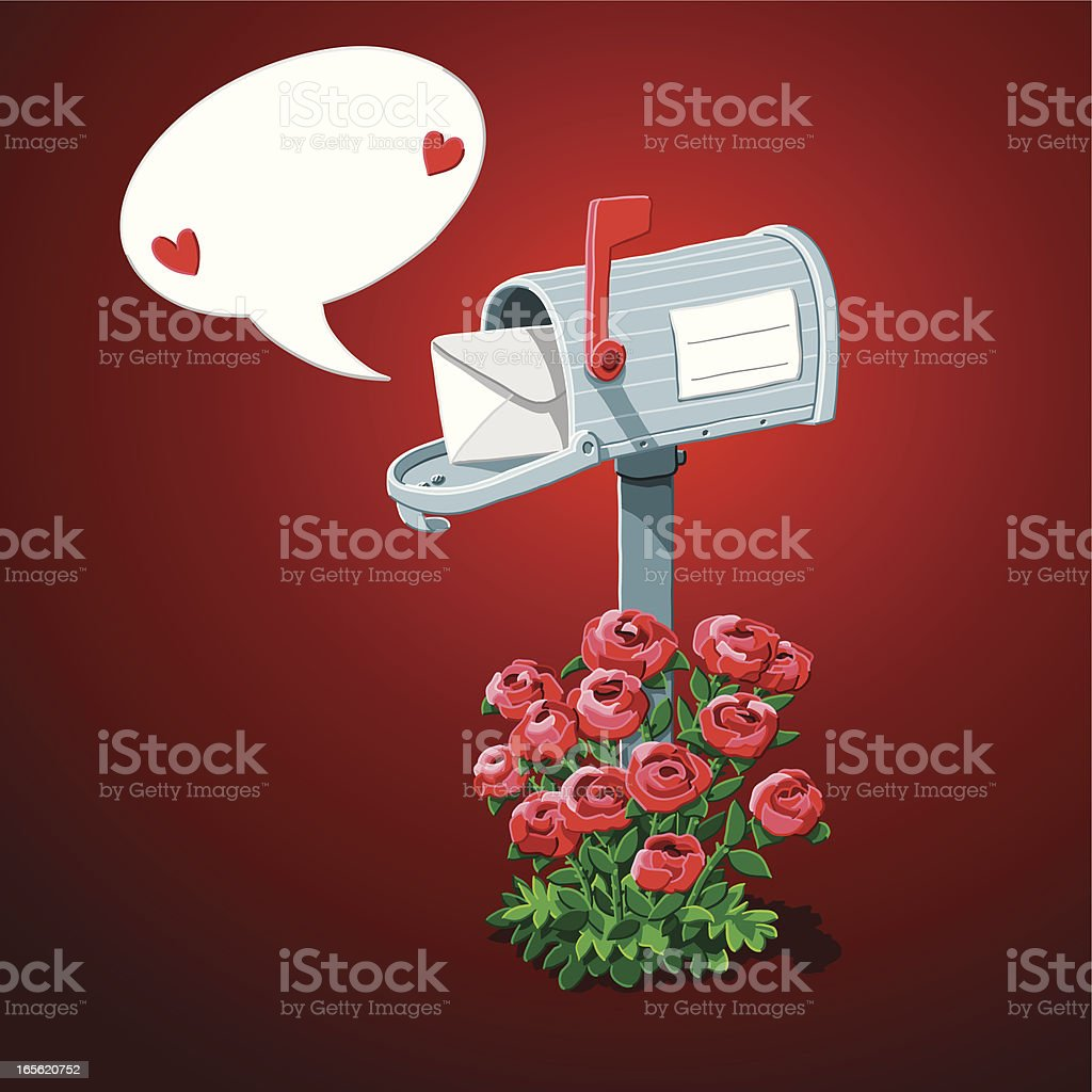 Valentine's Day Mailbox royalty-free stock vector art