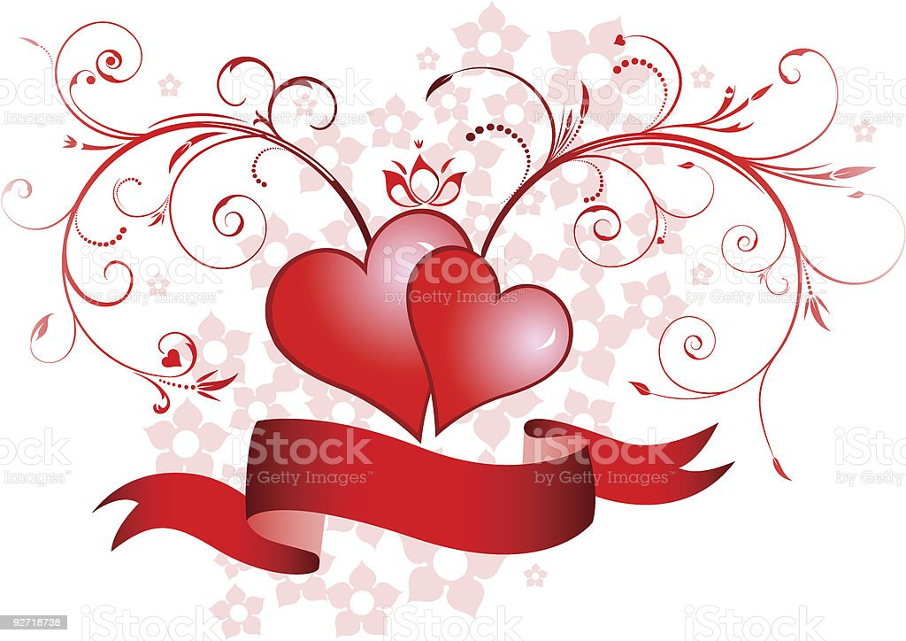 valentine's day ornaments royalty-free stock vector art