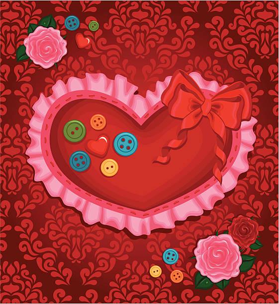 valentine's day kissen herz - herzkissen stock-grafiken, -clipart, -cartoons und -symbole