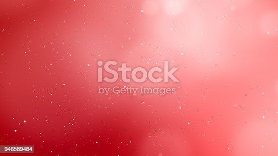 Valentines Day red abstract background and love concept. Glittering light elements with bokeh decorations design for romantic background. Product presentation, wedding celebration backdrop design.