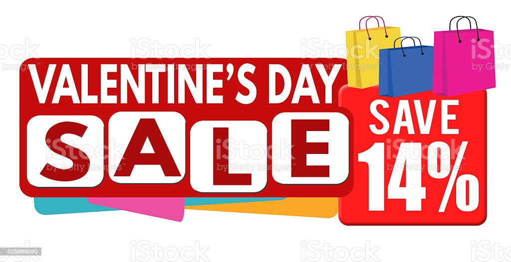 Valentines Day Sale Banner Or Label Stock Vector Art More Images