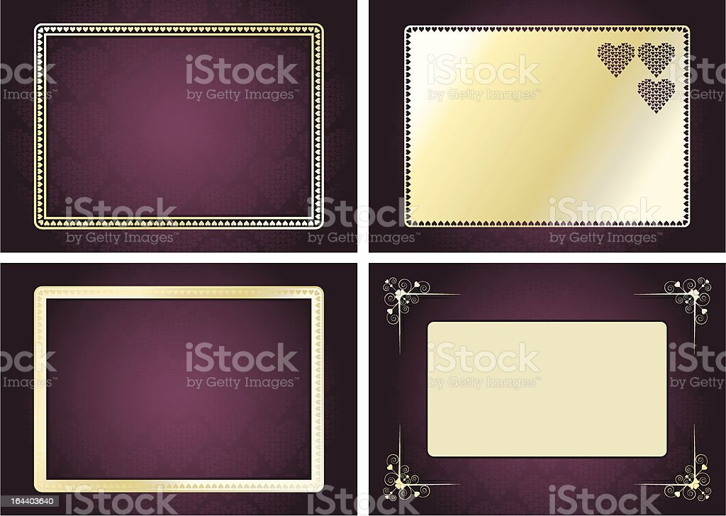 Valentine's Frame Set vector art illustration