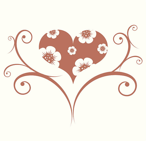 Valentines ornament vector art illustration