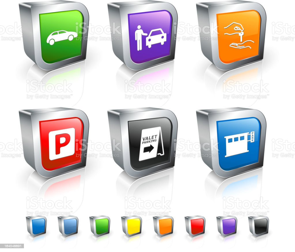 valet parking royalty free vector icon set royalty-free valet parking royalty free vector icon set stock vector art & more images of blue