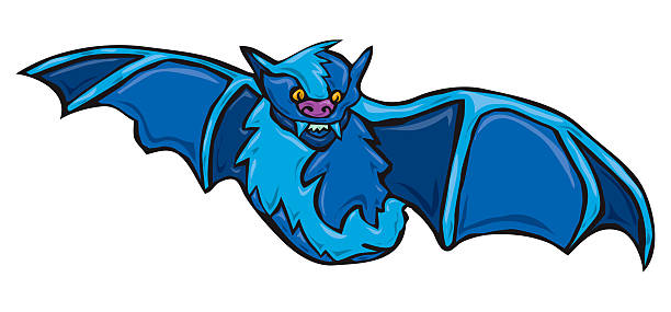 Vampire Bat vector art illustration