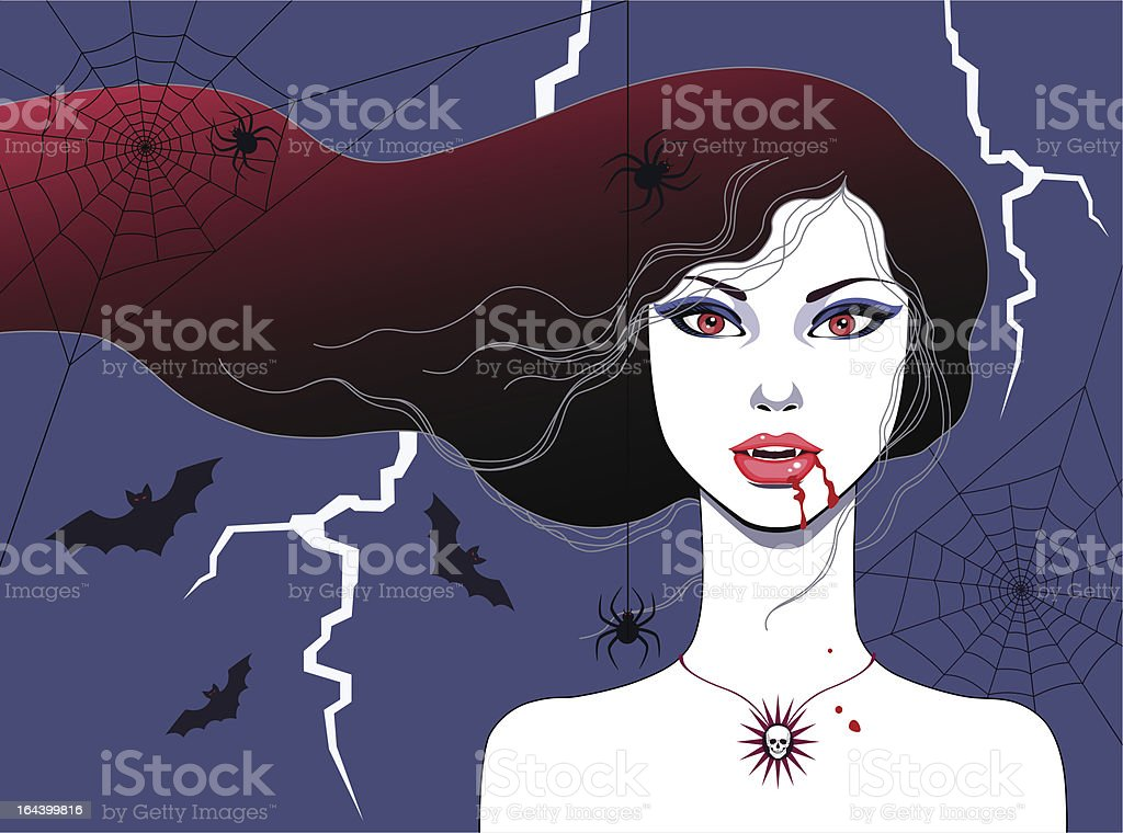 Vampire girl royalty-free stock vector art