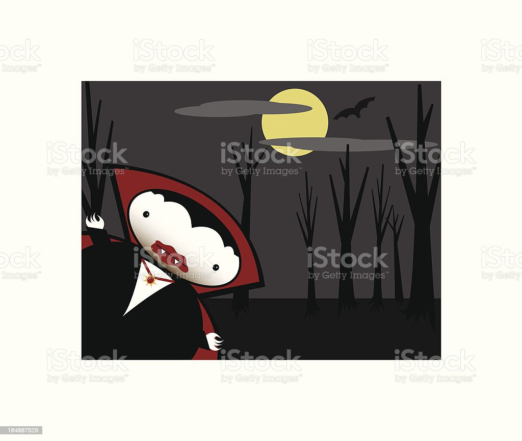 Vampire in the forrest royalty-free stock vector art
