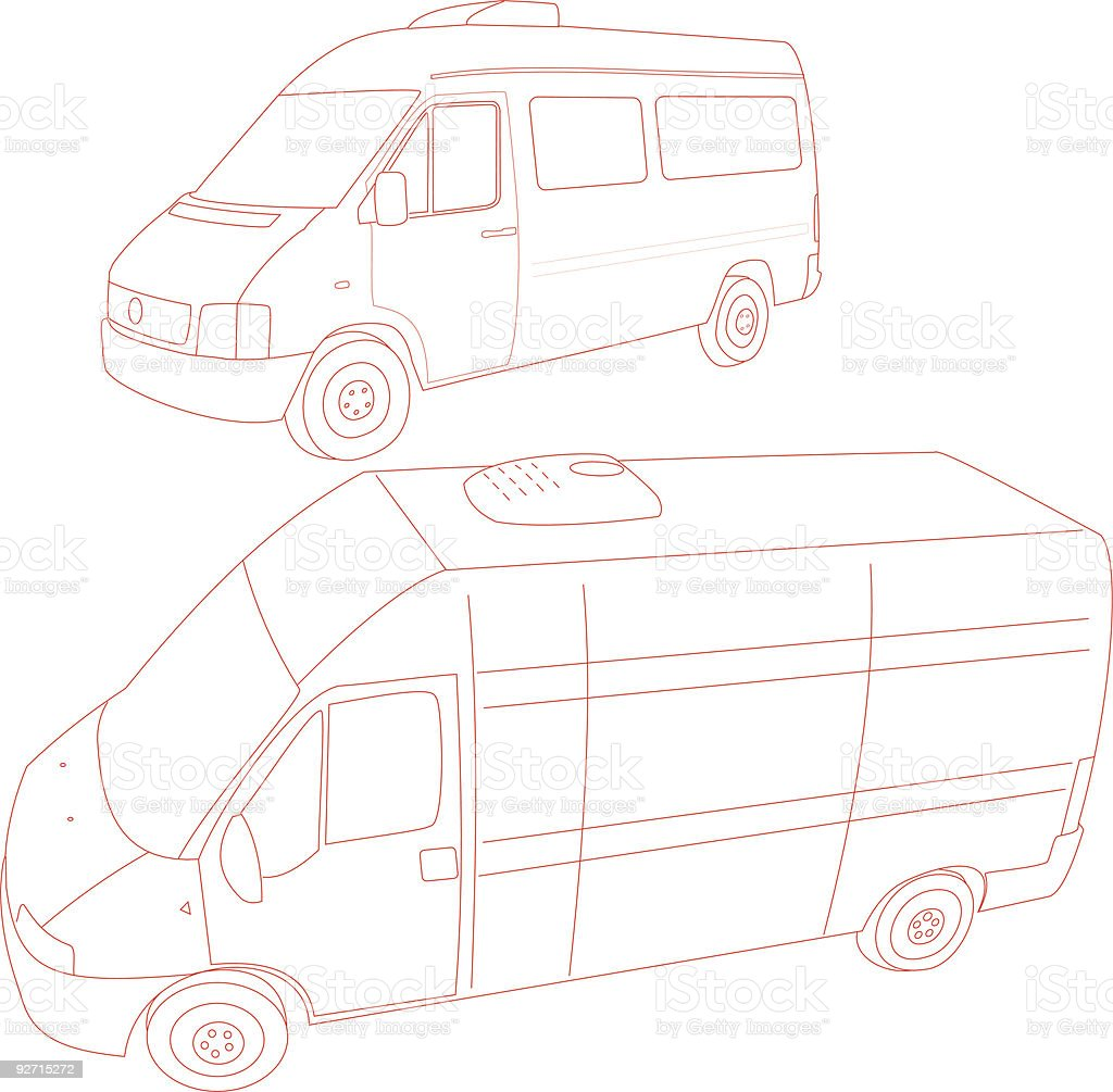 Van - Trace royalty-free stock vector art
