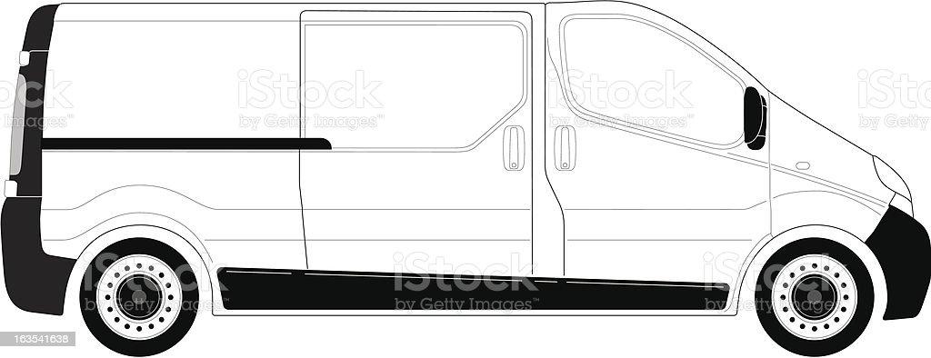 Van_rightside_line-art royalty-free vanrightsidelineart stock vector art & more images of car