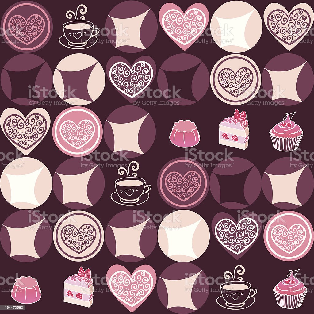 Vanilla cookies and cup of coffee pattern royalty-free vanilla cookies and cup of coffee pattern stock vector art & more images of backgrounds
