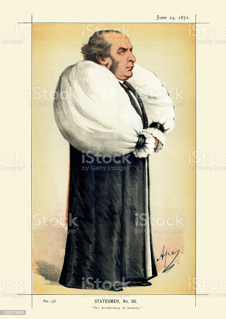 Vanity Fair Print - William Thomson Archbishop of York vector art illustration