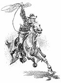 Vaquero (in Spanish-speaking parts of the US) a cowboy ,a cattle driver