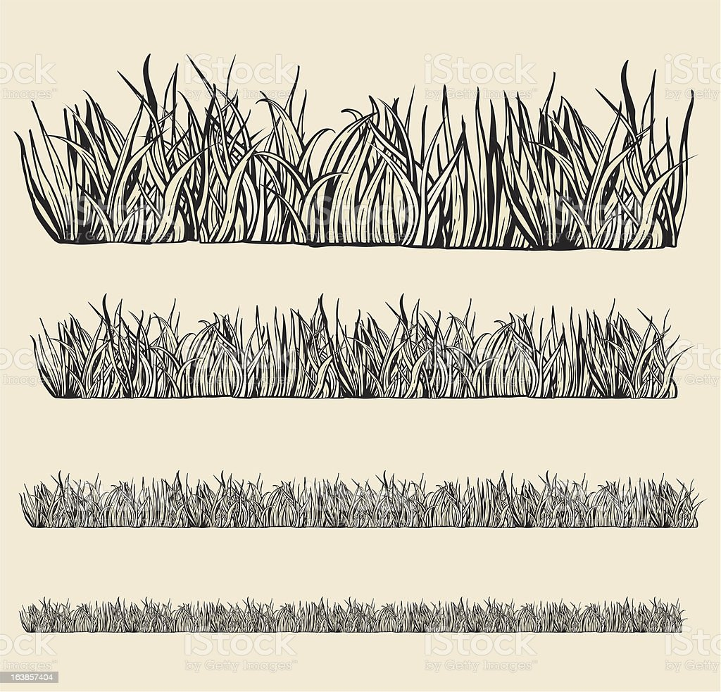 Variable grass modules. royalty-free stock vector art