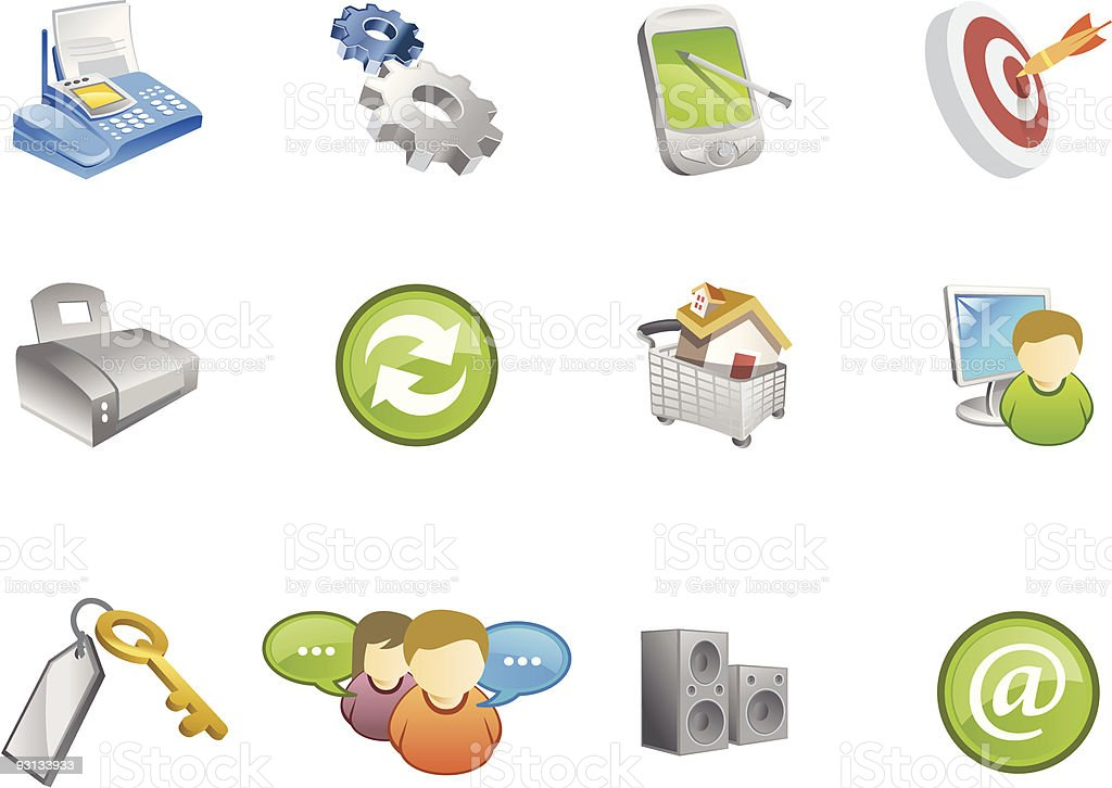 Varico  web and internet Icons | Set  6 royalty-free stock vector art