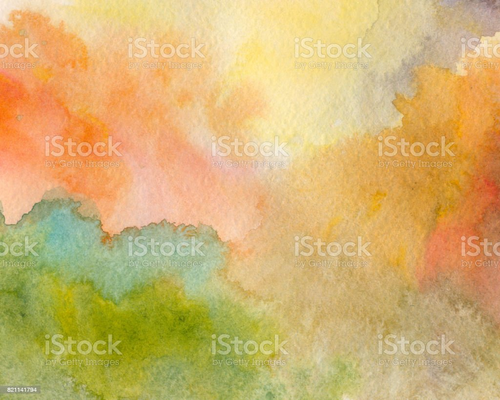 varicolored watercolor background vector art illustration