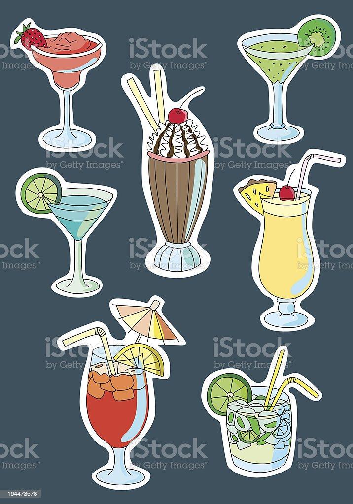 Various drinks royalty-free stock vector art