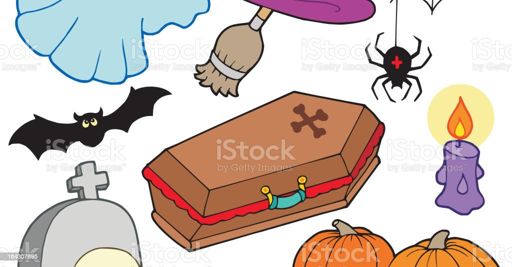 Various Halloween images 3 royalty-free stock vector art