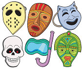 Various masks collection