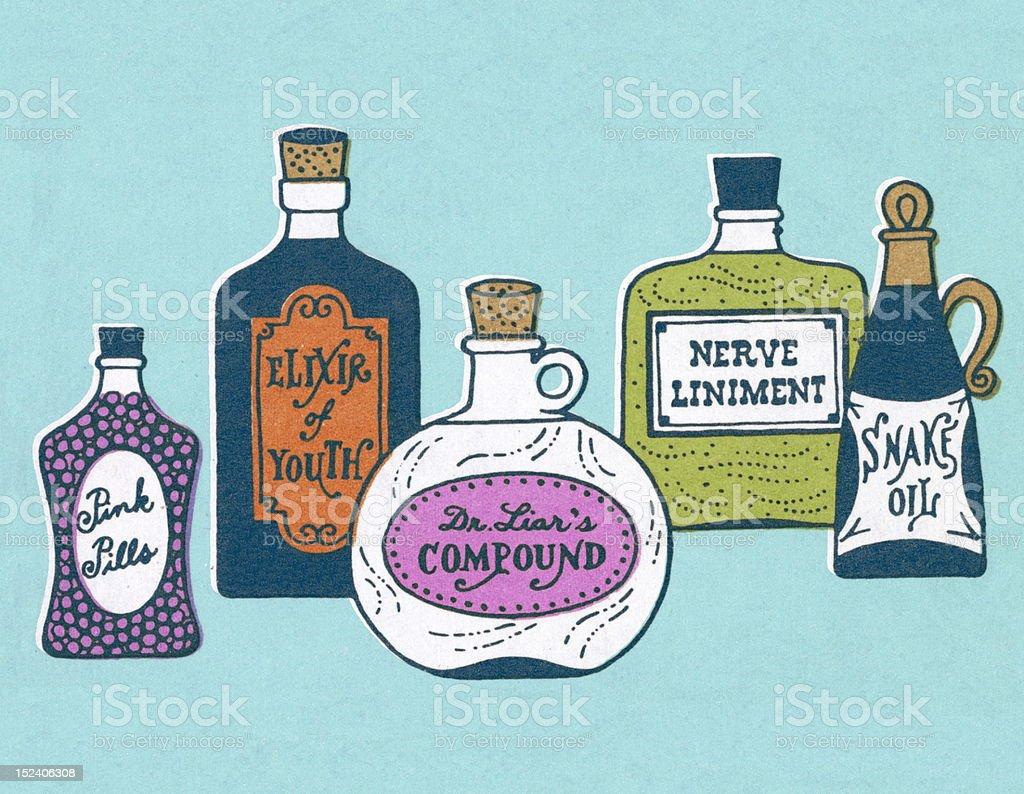 Various Medicine Bottles royalty-free various medicine bottles stock vector art & more images of blue background