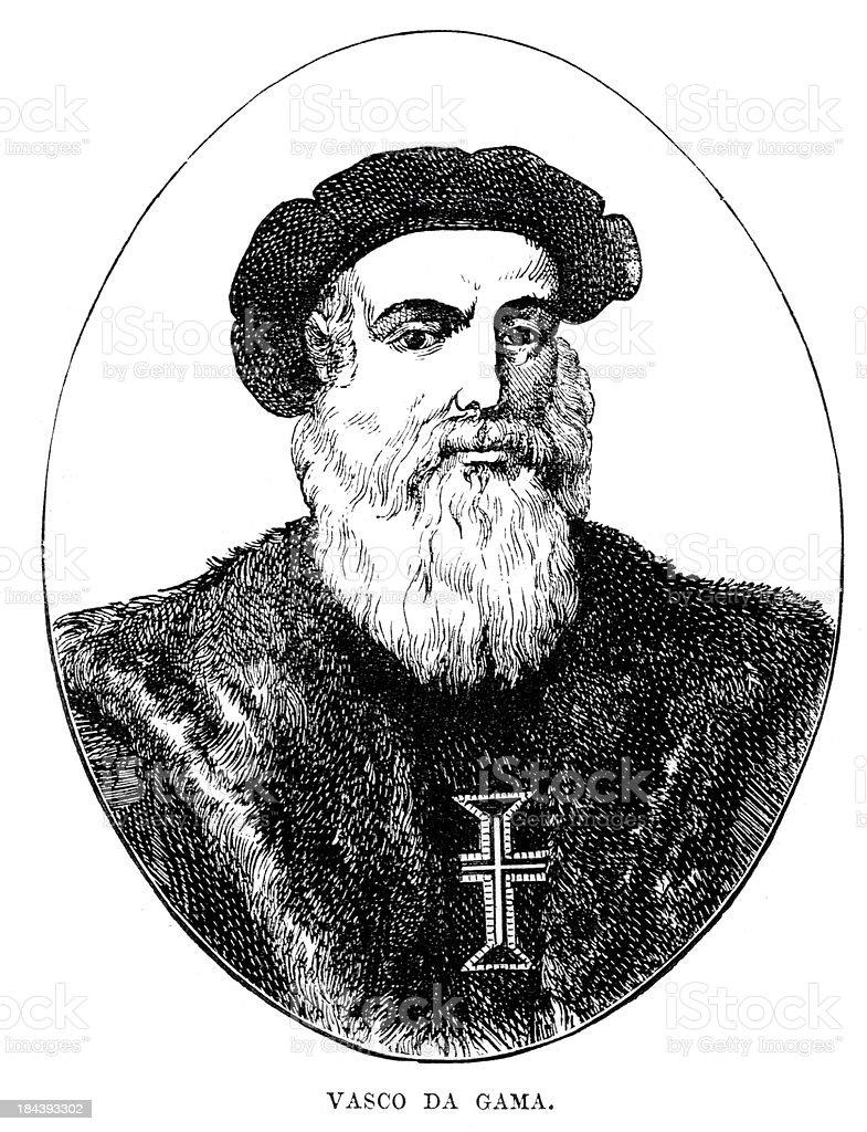 Vasco De Gama vector art illustration