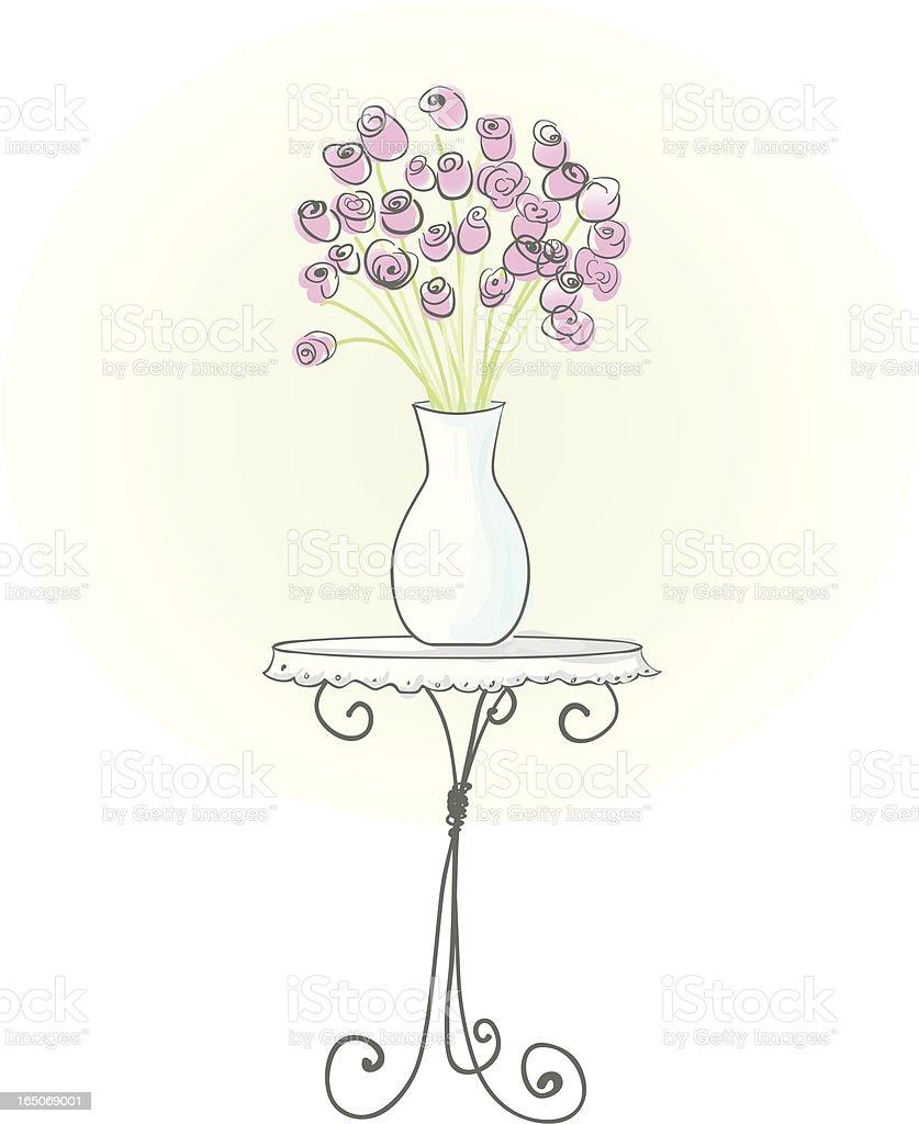 Vase of Roses royalty-free stock vector art
