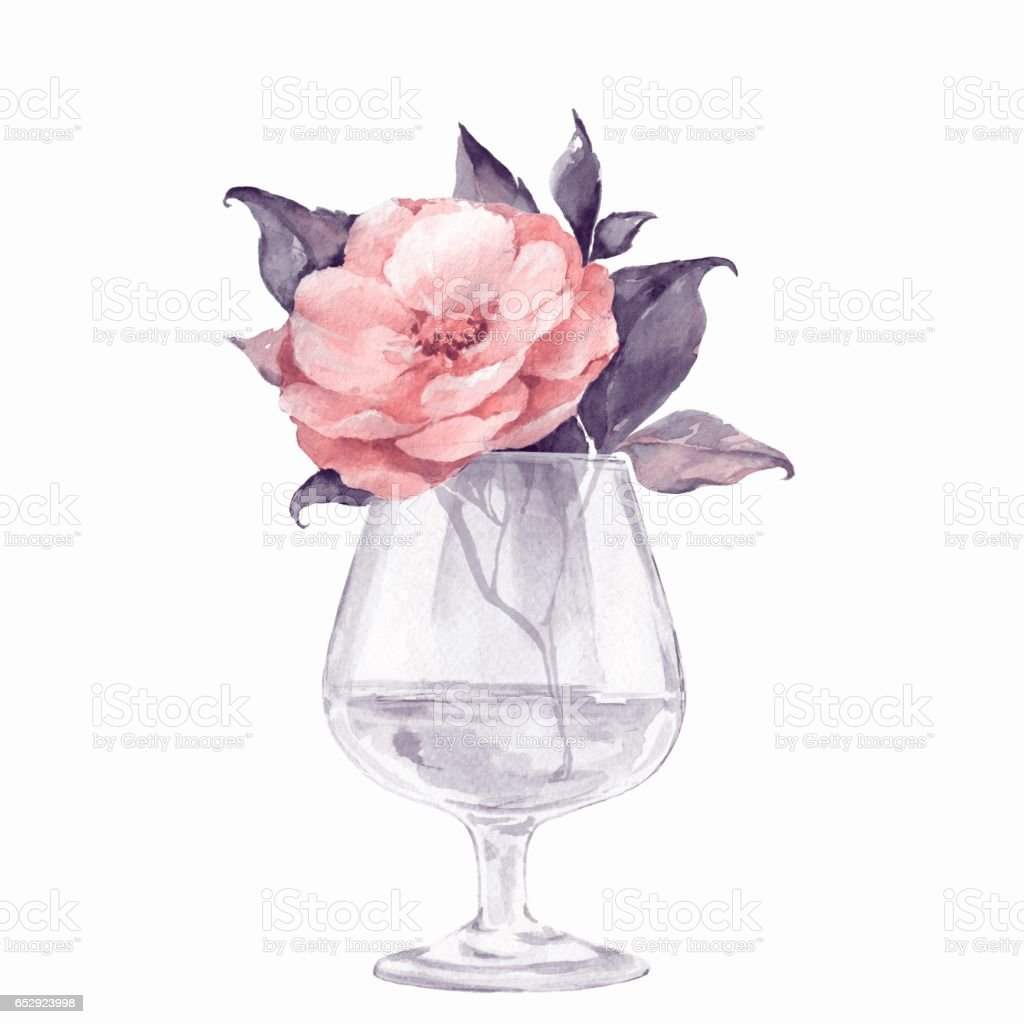 Vase with flower watercolor illustration stock vector art more vase with flower watercolor illustration royalty free vase with flower watercolor illustration stock vector reviewsmspy