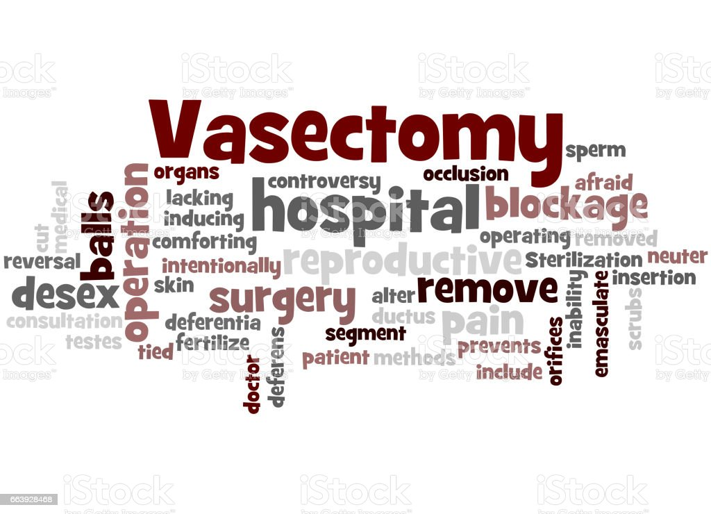 Vasectomy, word cloud concept 2 vector art illustration