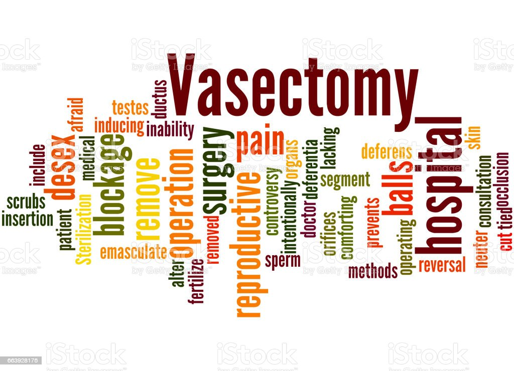 Vasectomy, word cloud concept 4 vector art illustration