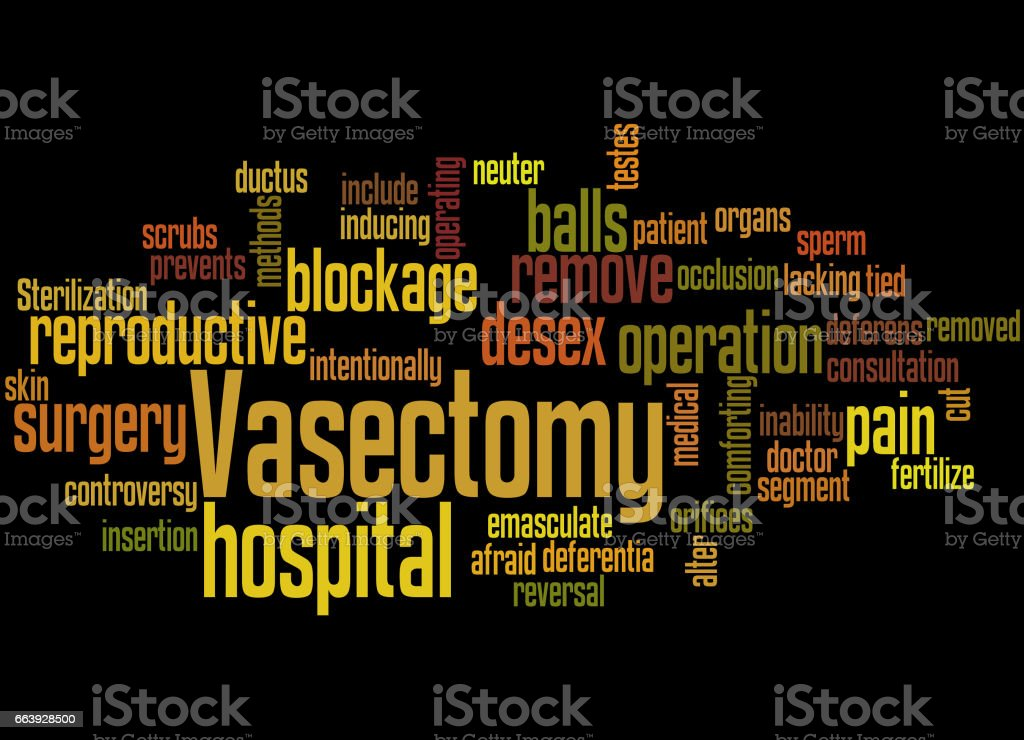 Vasectomy, word cloud concept 5 vector art illustration