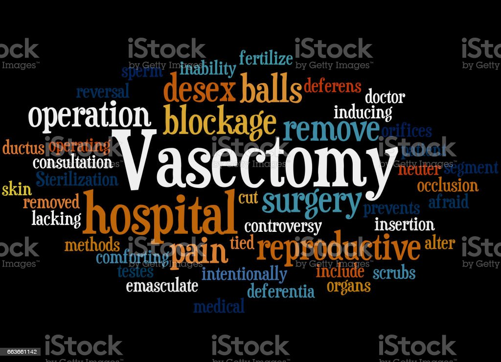 Vasectomy, word cloud concept 6 vector art illustration