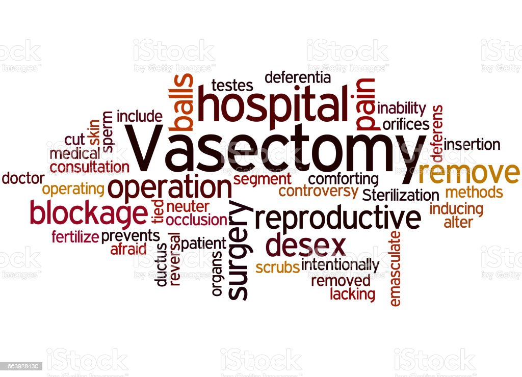 Vasectomy, word cloud concept 8 vector art illustration