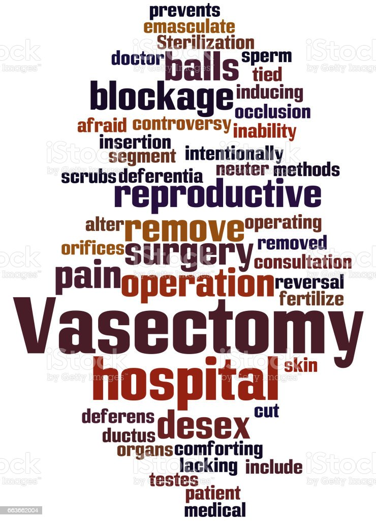 Vasectomy, word cloud concept 9 vector art illustration