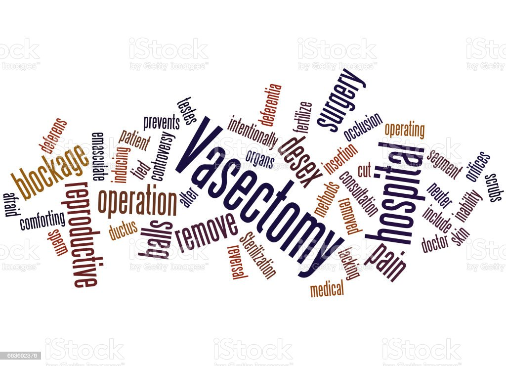 Vasectomy, word cloud concept vector art illustration