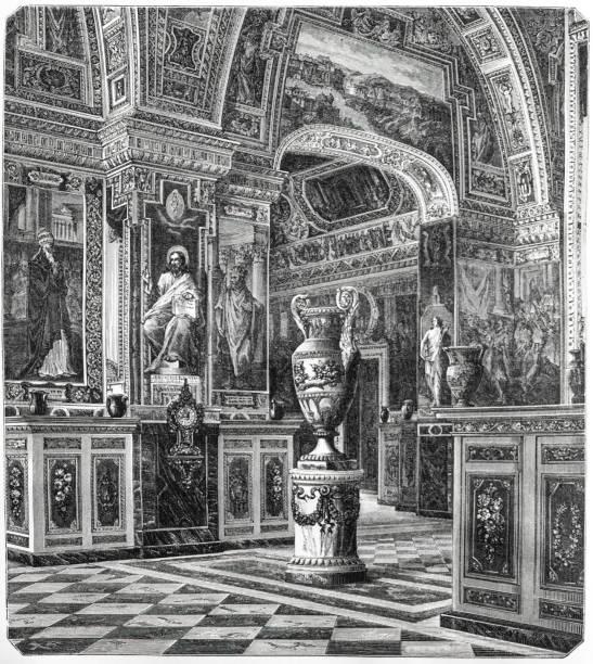 vatikanische Bibliotheksillustration 1873 ' die Erde und ihr Volk ' – Vektorgrafik