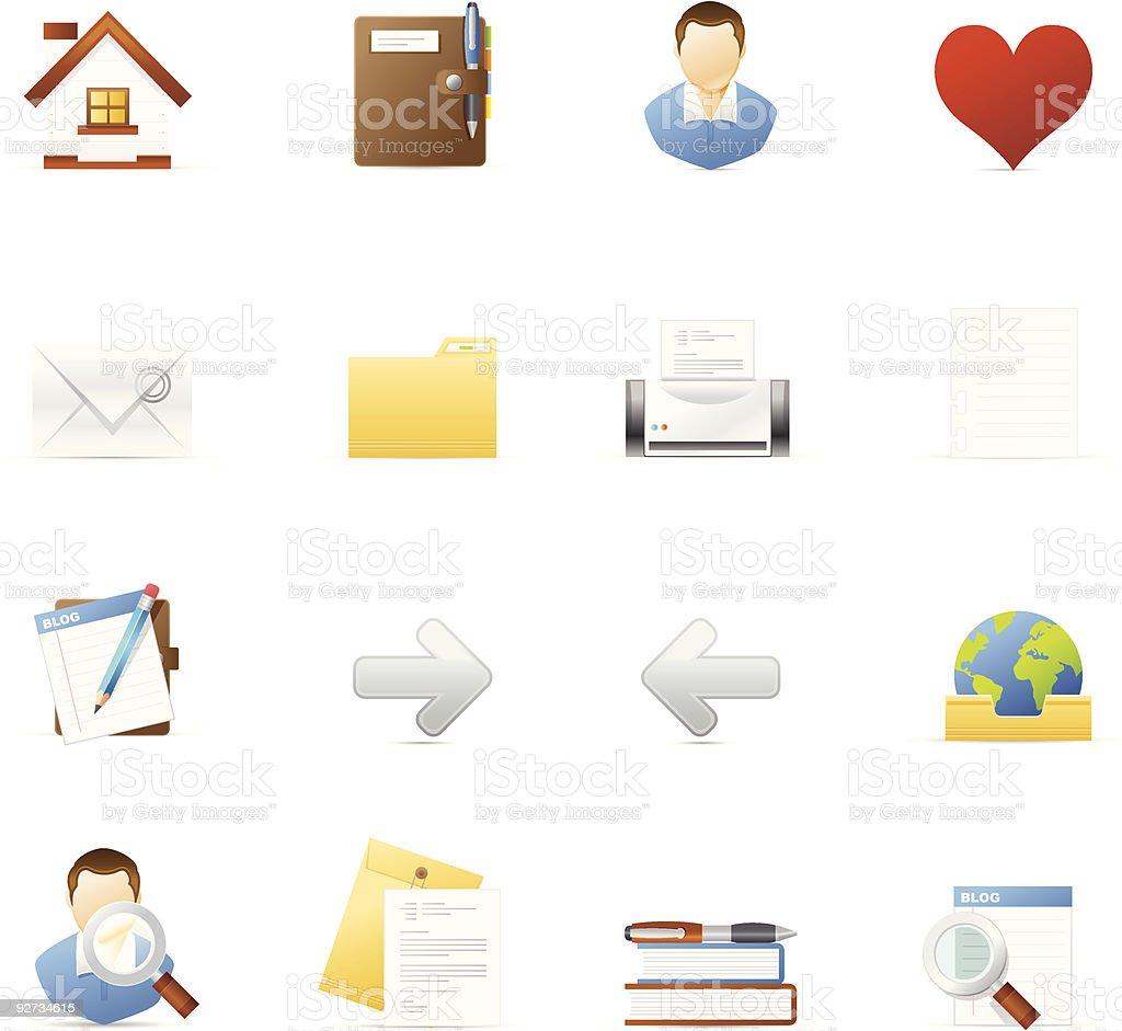 Vecto icon set - Internet and Blogging 1 royalty-free stock vector art