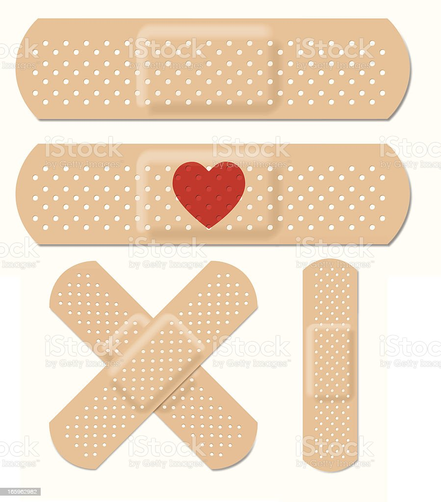 Vector Adhesive Bandages vector art illustration