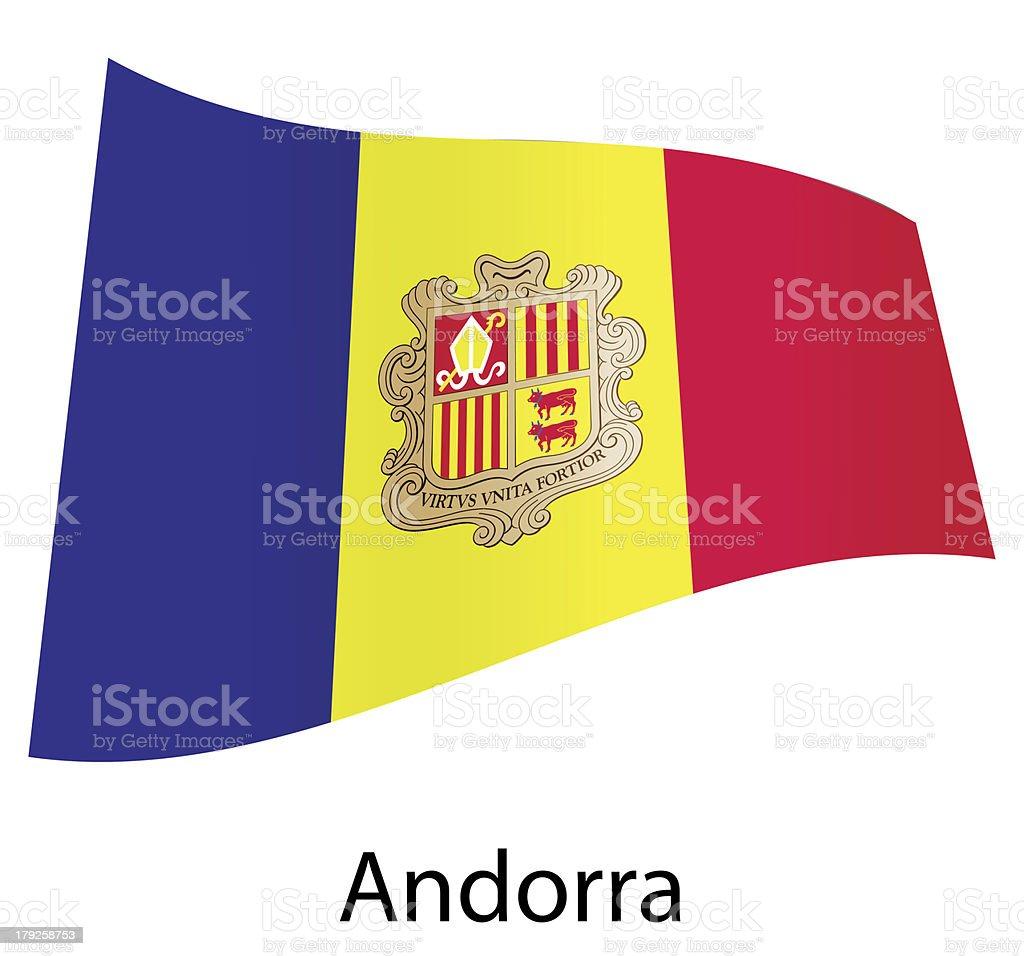 vector andorra flag isolated royalty-free stock vector art