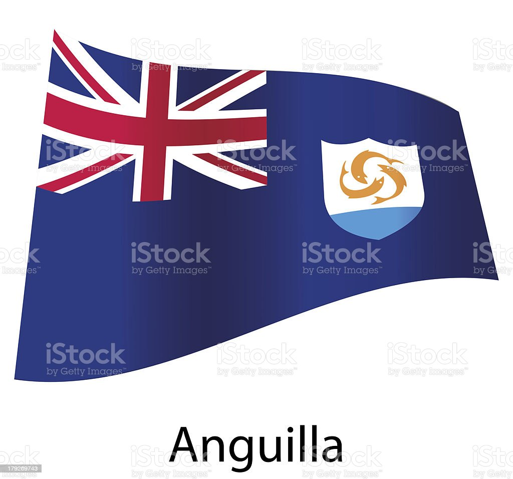 vector anguilla flag isolated royalty-free stock vector art