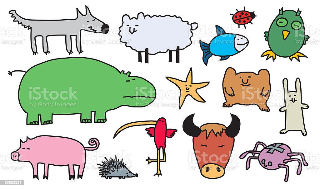 vector animals 3 royalty-free stock vector art