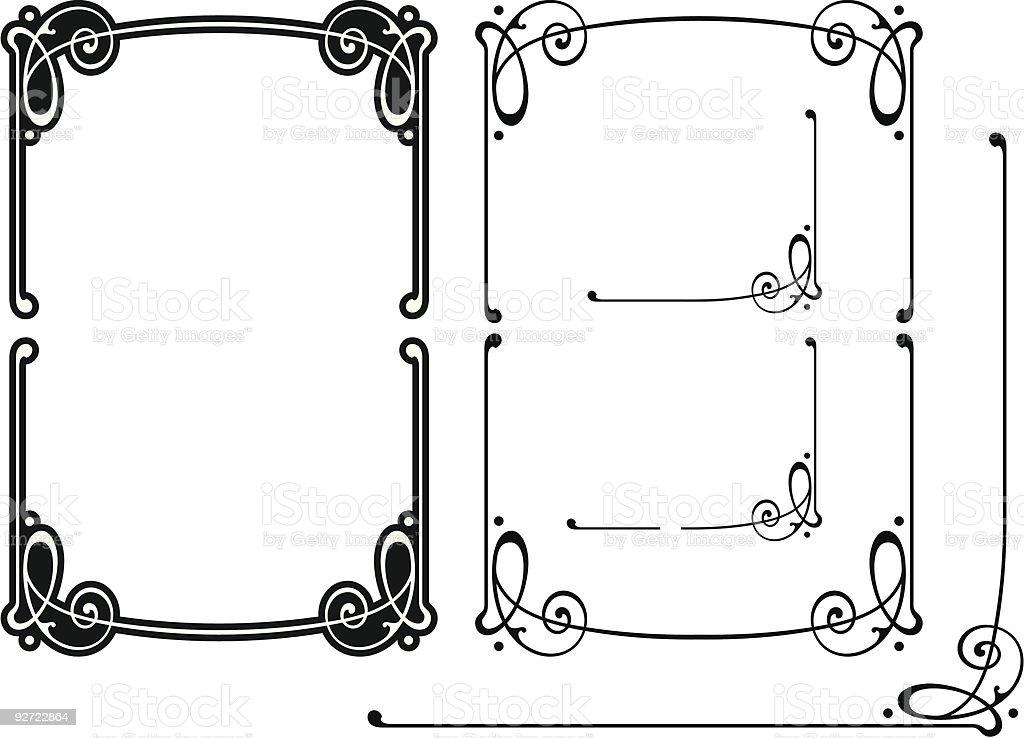 Vector Art Nouveau Scroll Design