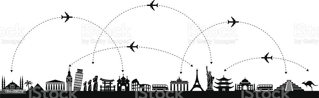 Vector  Background Travel vector art illustration