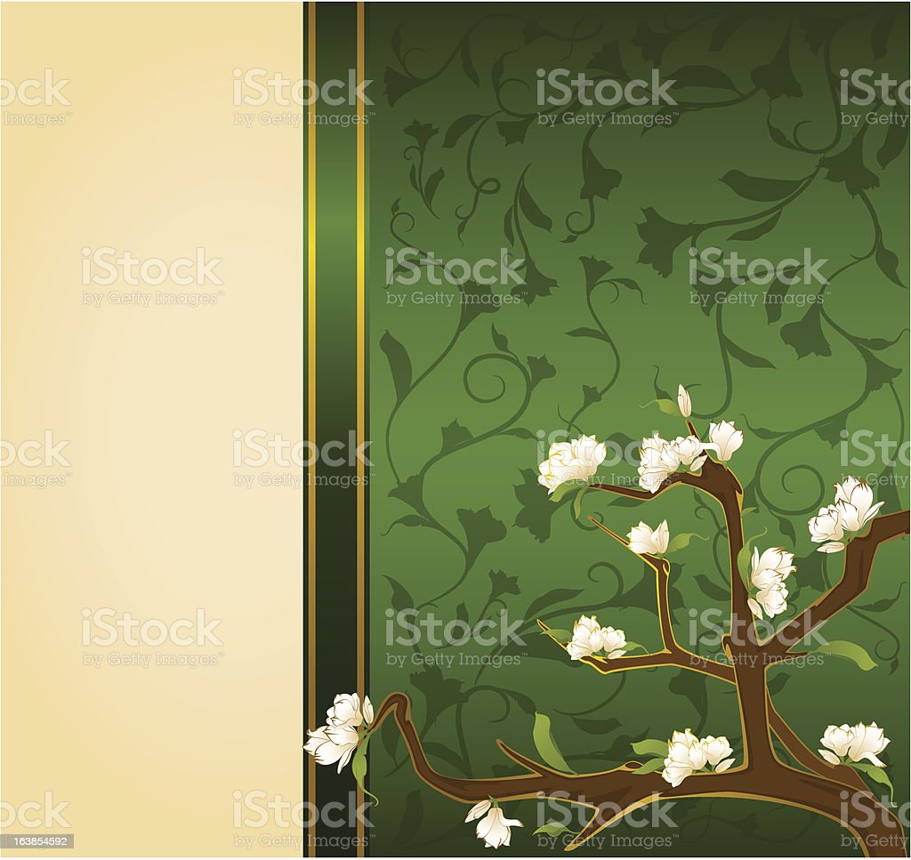 Vector beautiful background with flowers royalty-free stock vector art