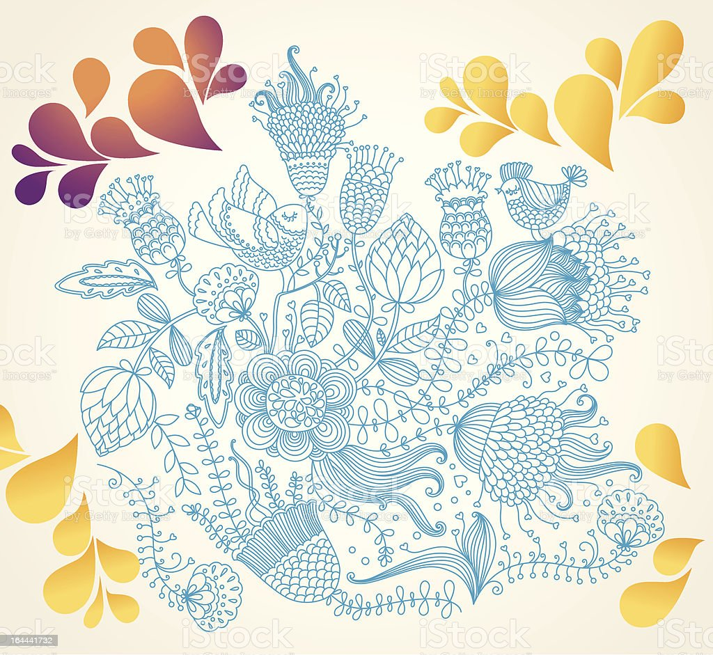vector beautiful floral background stock vector art & more images of