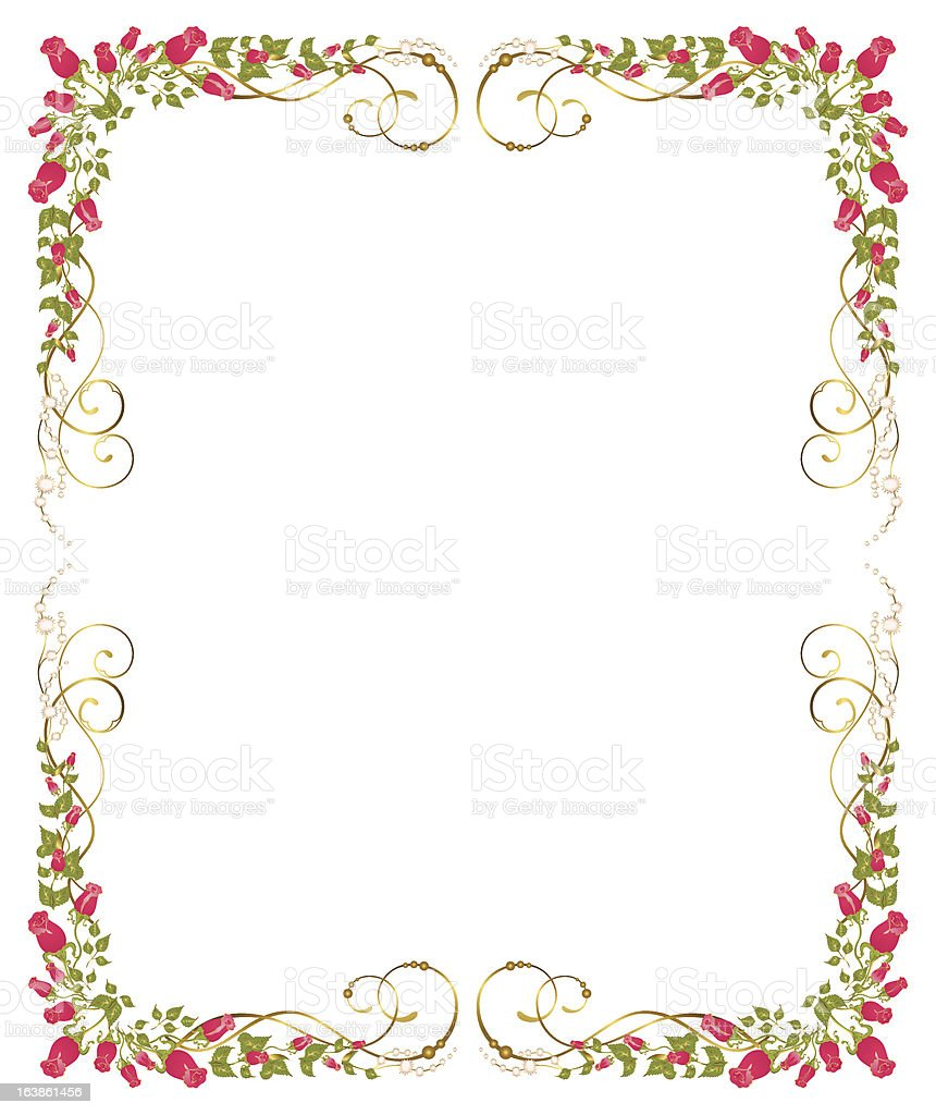 Vector Beautiful Frame From Red Roses Stock Vector Art & More Images ...
