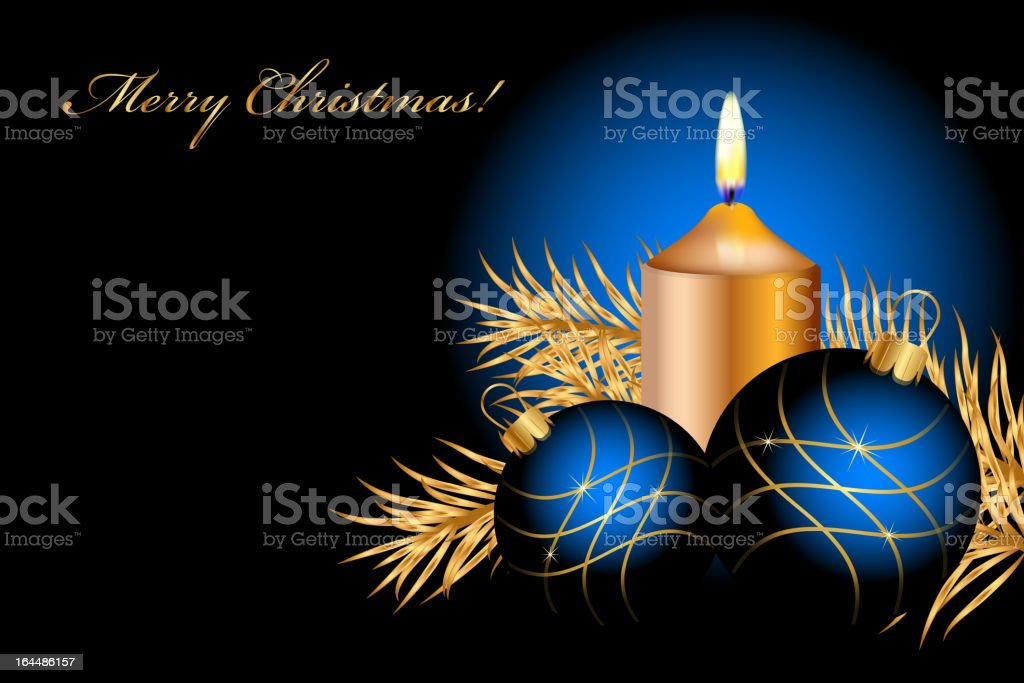 Vector blue and gold christmas background royalty-free stock vector art