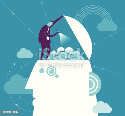 862431374 istock photo Vector brain searching concept with man and head 165819337