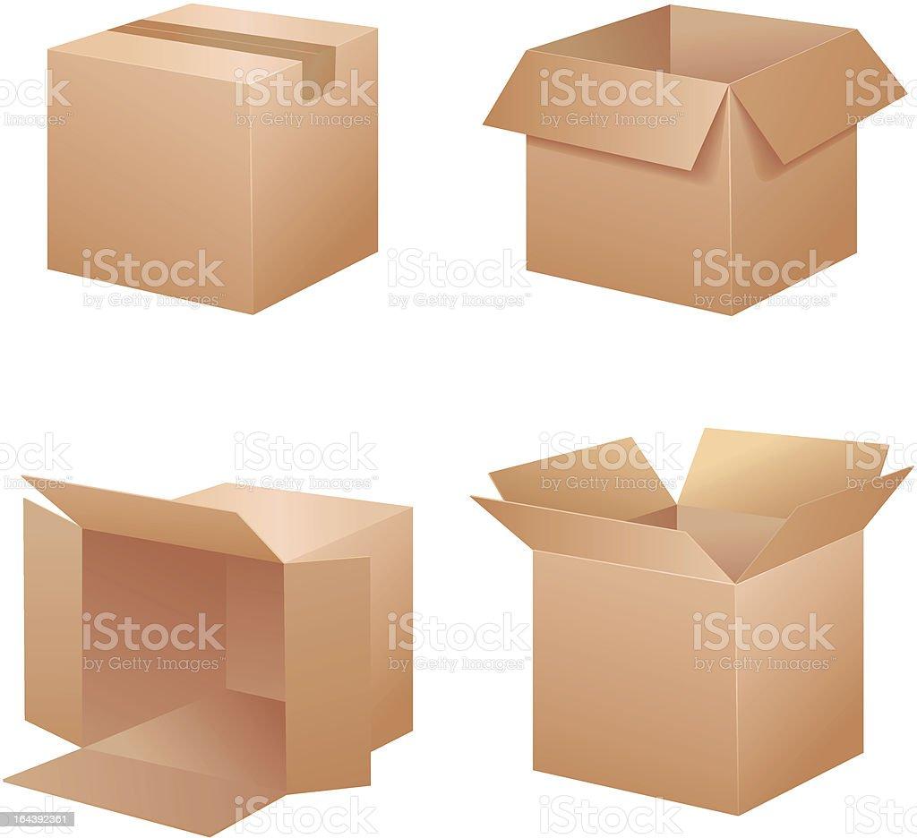 Vector brown boxes royalty-free stock vector art