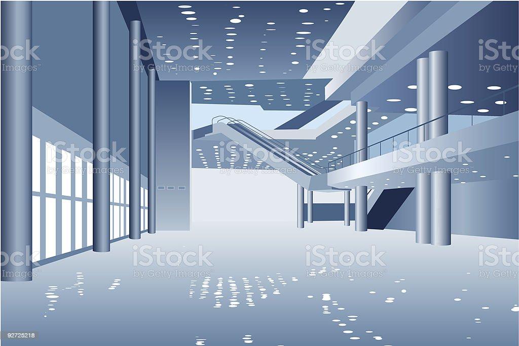vector business hall vector art illustration