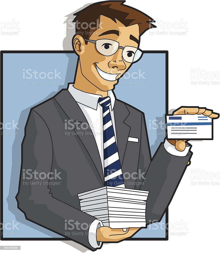 Vecteur Homme d'affaires tenant carte - Illustration vectorielle