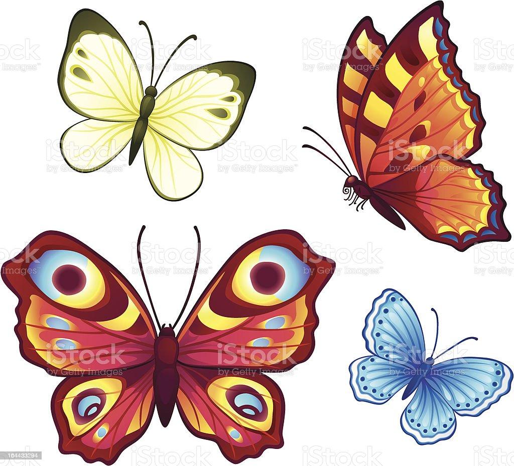 Vector butterflies royalty-free stock vector art